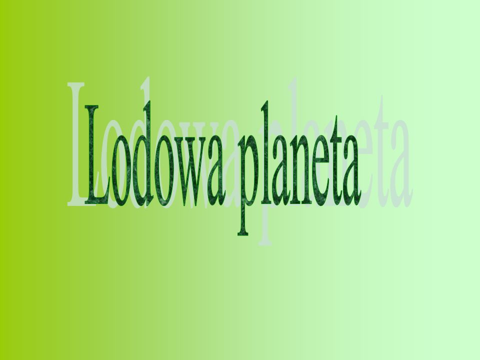 Lodowa planeta