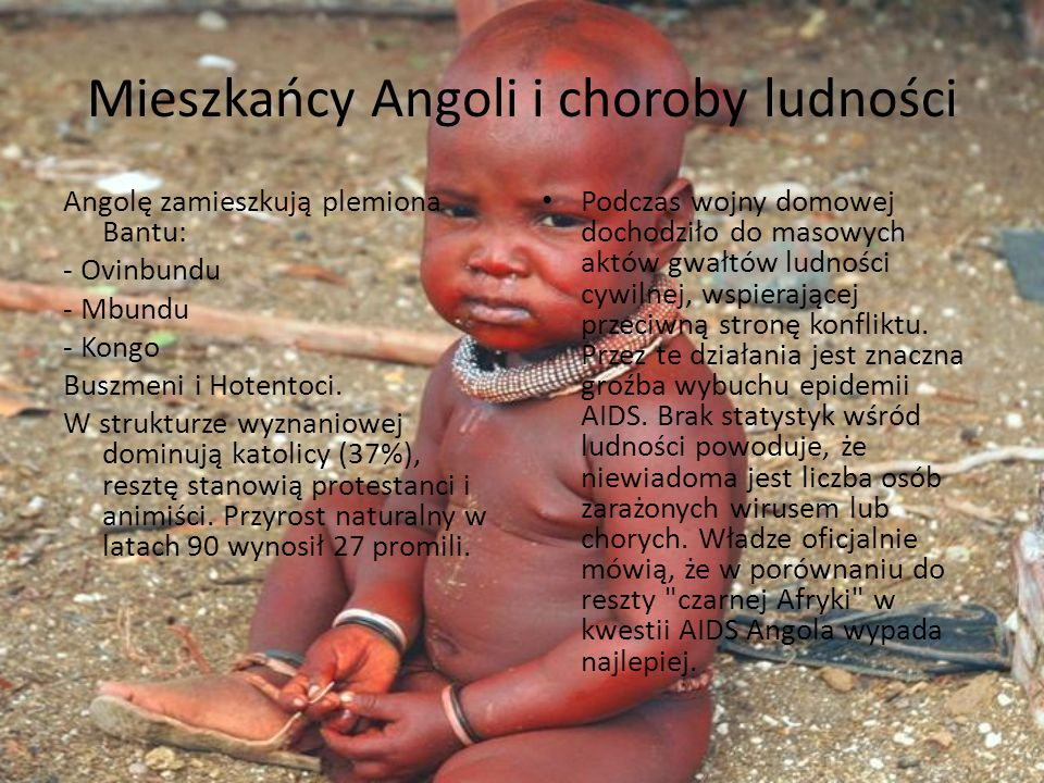 Mieszkańcy Angoli i choroby ludności