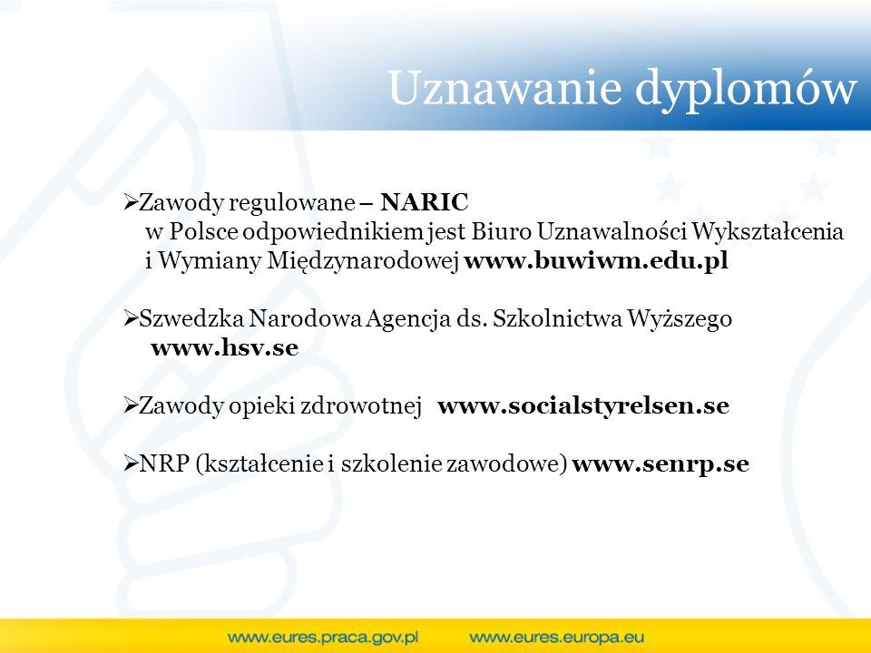 Uznawanie dyplomów Zawody regulowane – NARIC