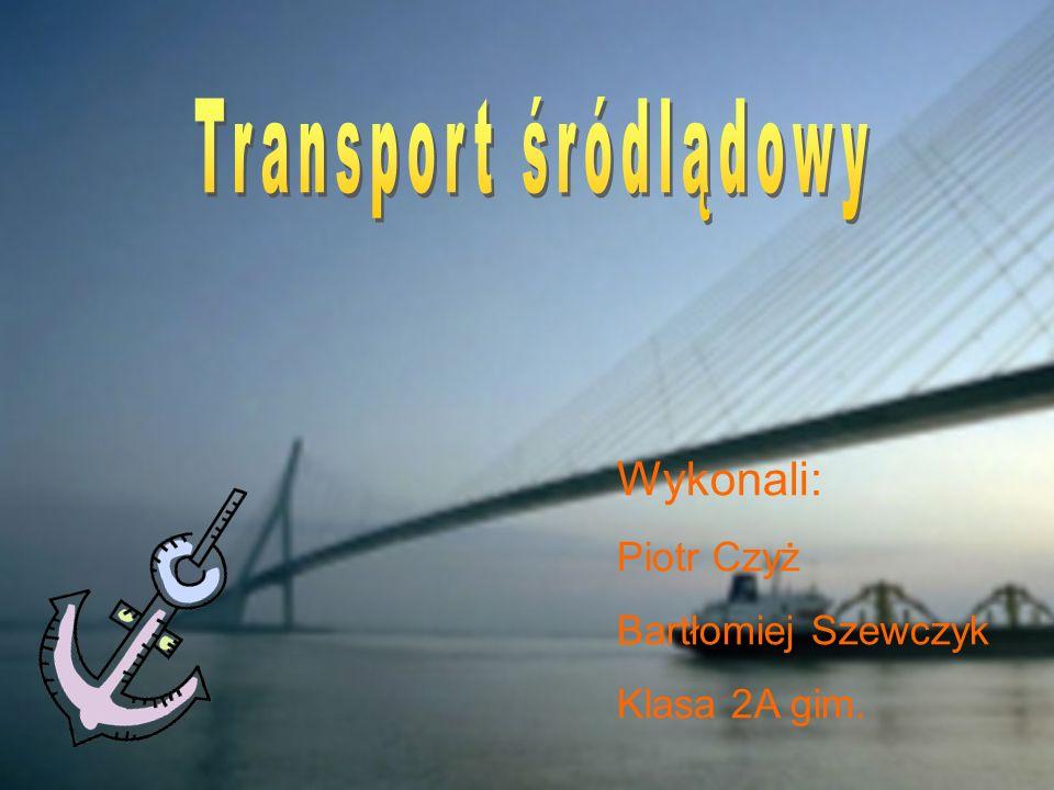 Transport śródlądowy Wykonali: Piotr Czyż Bartłomiej Szewczyk