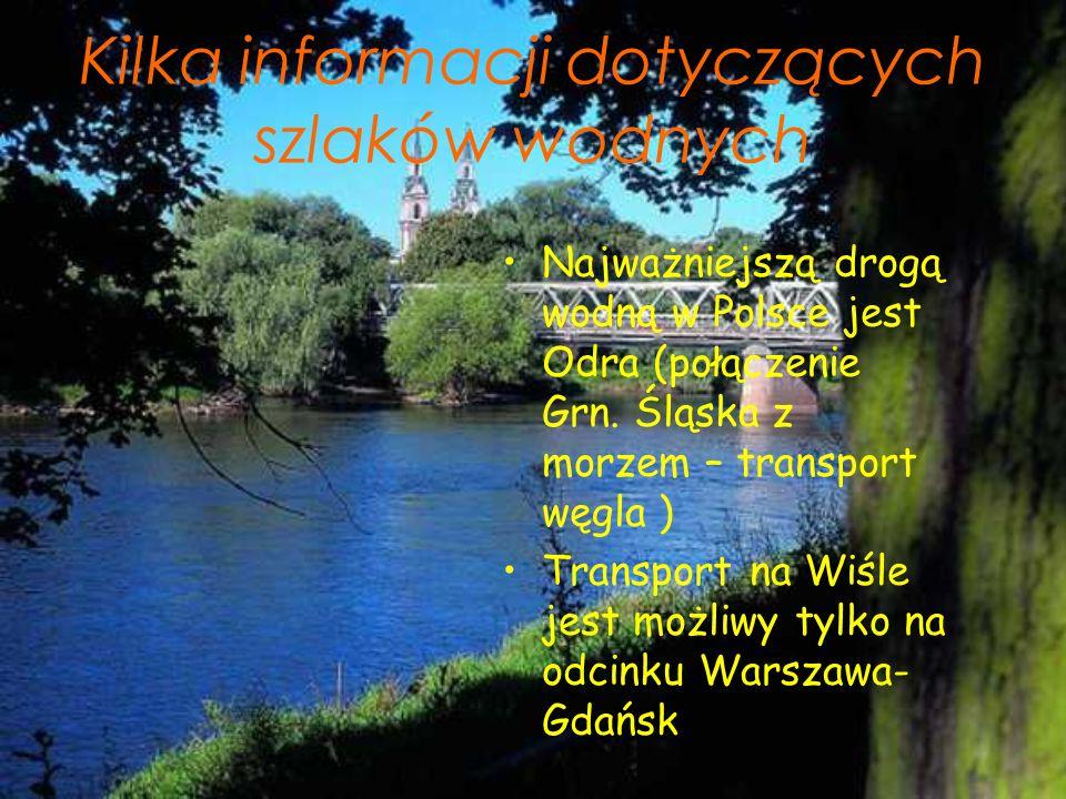 Kilka informacji dotyczących szlaków wodnych