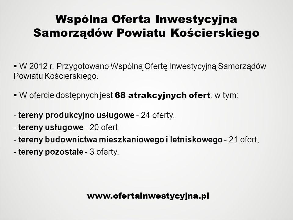 Wspólna Oferta Inwestycyjna Samorządów Powiatu Kościerskiego