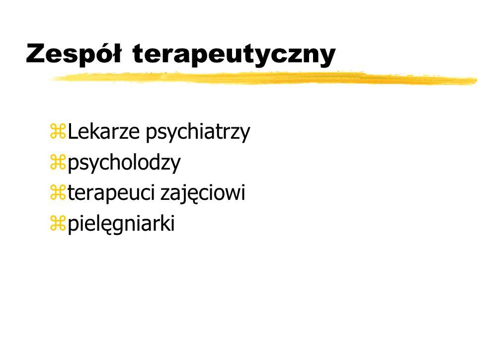 Zespół terapeutyczny Lekarze psychiatrzy psycholodzy
