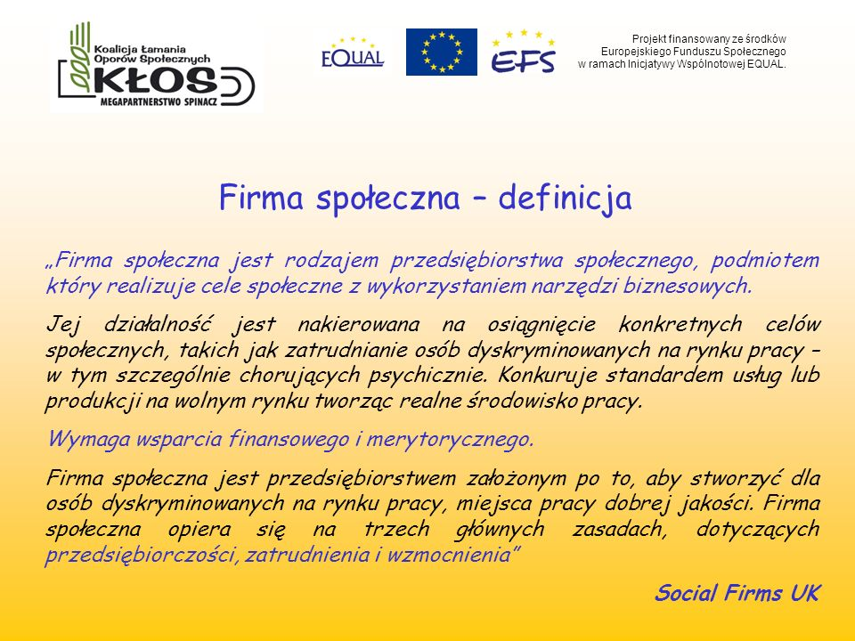 Firma społeczna – definicja