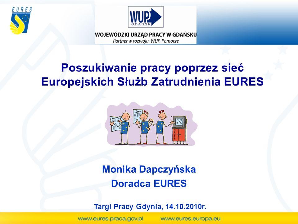 Poszukiwanie pracy poprzez sieć Europejskich Służb Zatrudnienia EURES