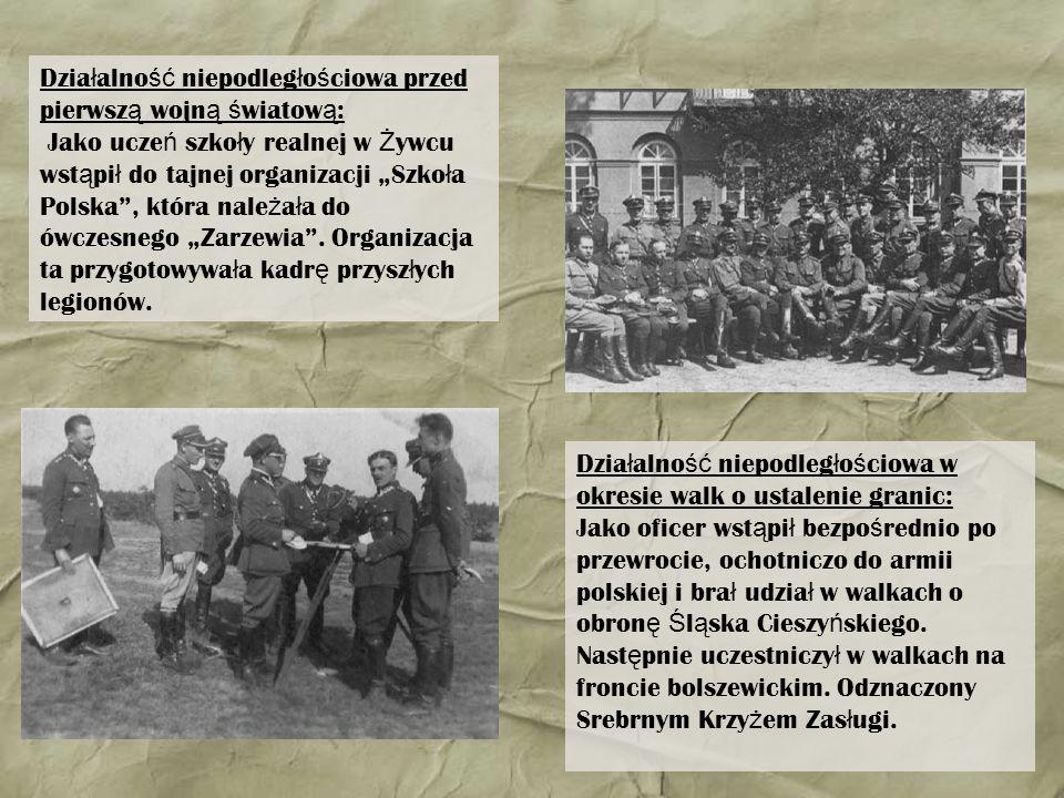 Działalność niepodległościowa przed pierwszą wojną światową: