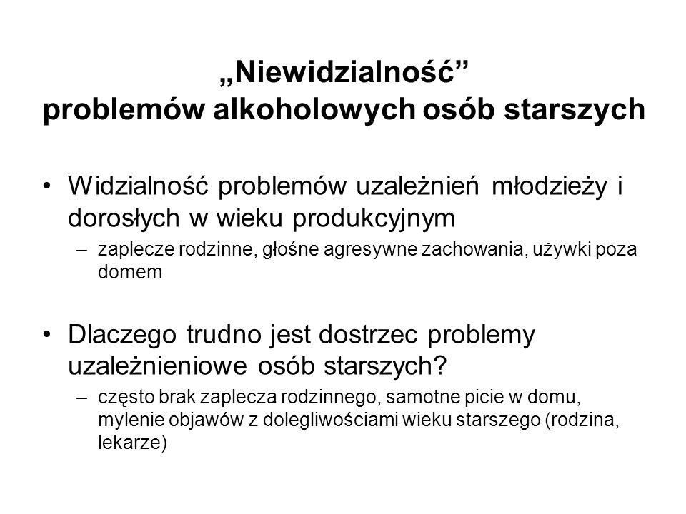 """""""Niewidzialność problemów alkoholowych osób starszych"""