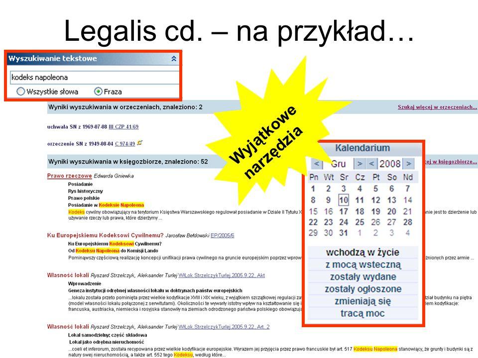 Legalis cd. – na przykład…