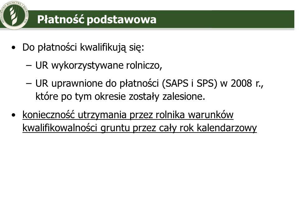 Płatność podstawowa Do płatności kwalifikują się: