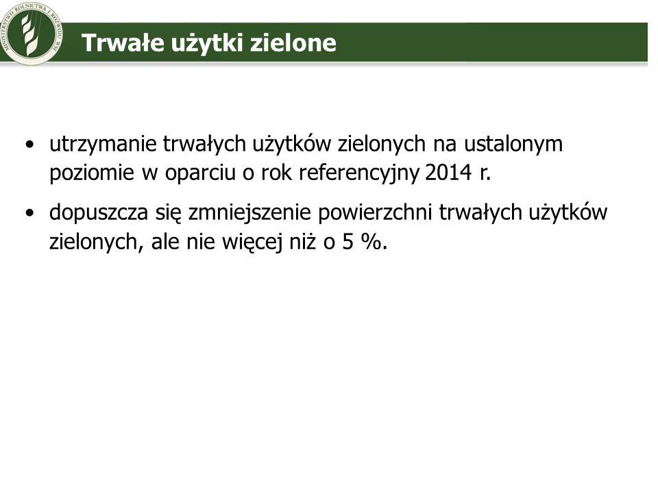 Trwałe użytki zieloneutrzymanie trwałych użytków zielonych na ustalonym poziomie w oparciu o rok referencyjny 2014 r.
