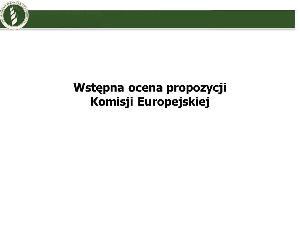 Wstępna ocena propozycji Komisji Europejskiej