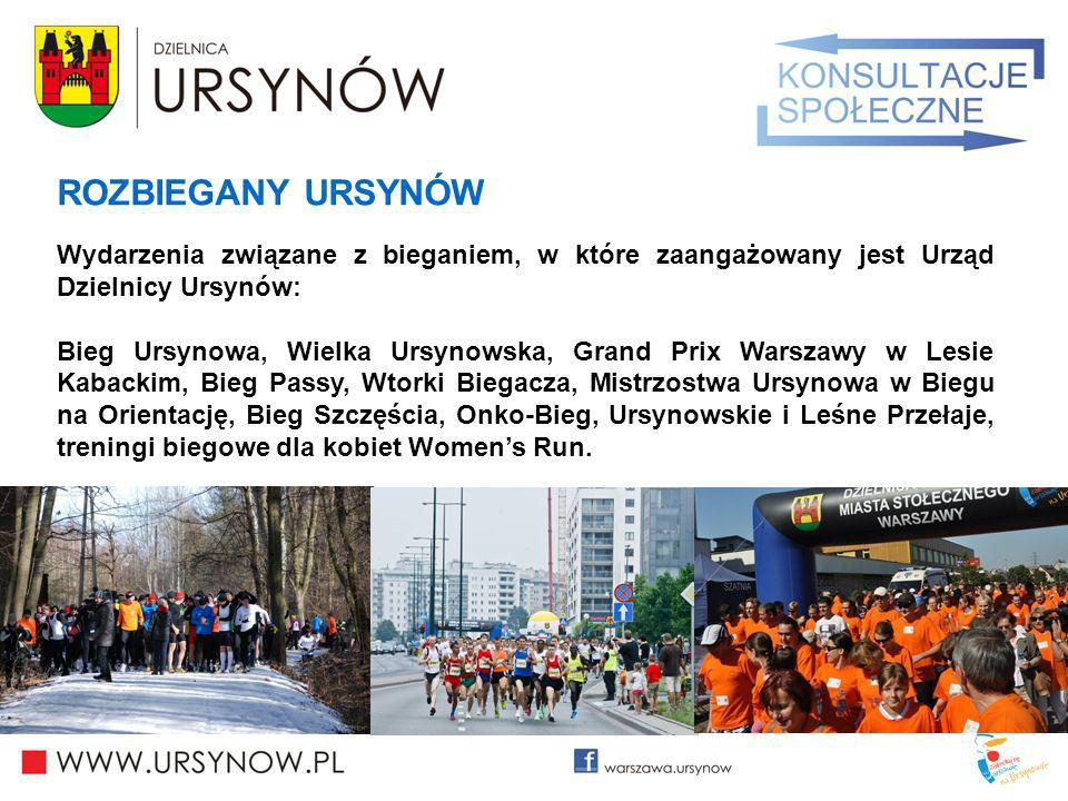 ROZBIEGANY URSYNÓW Wydarzenia związane z bieganiem, w które zaangażowany jest Urząd Dzielnicy Ursynów: