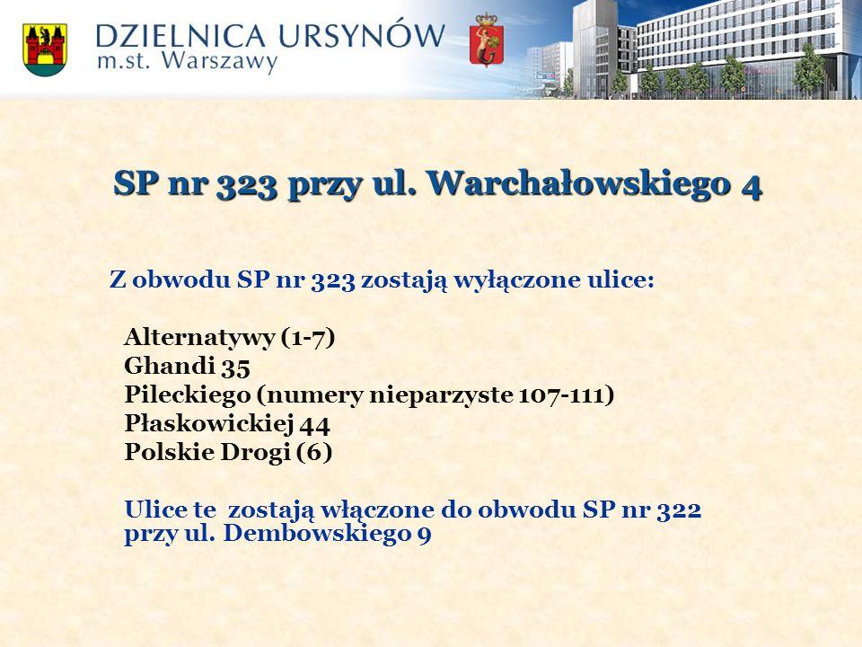 SP nr 323 przy ul. Warchałowskiego 4