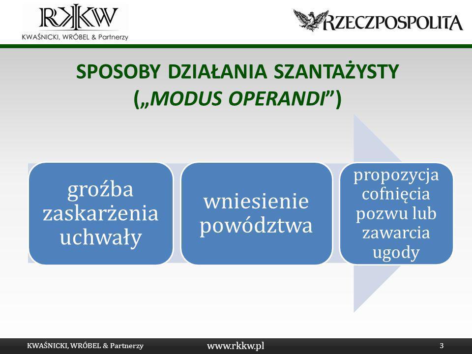 """Sposoby działania szantażystY (""""modus operandi )"""