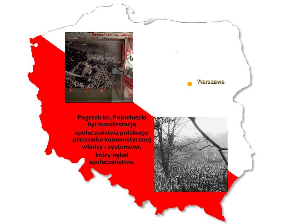 Pogrzeb ks. Popiełuszki był manifestacją