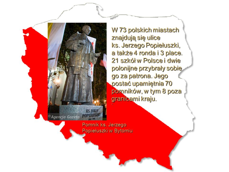 W 73 polskich miastach znajdują się ulice ks
