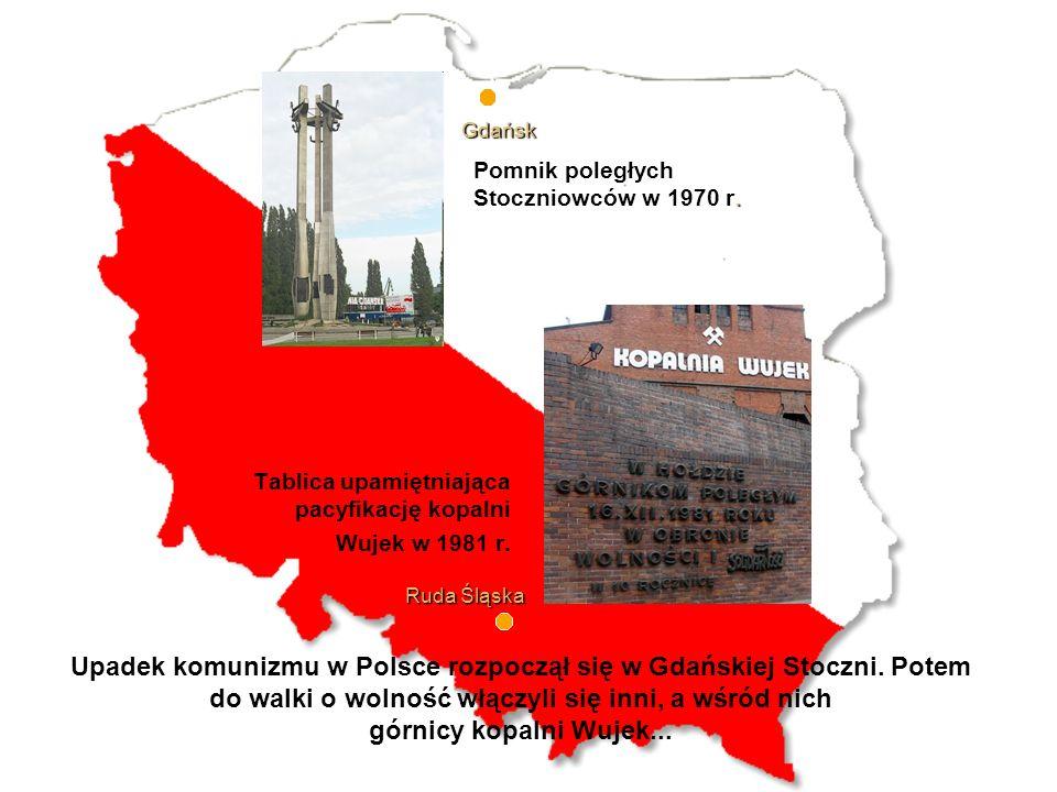 Tablica upamiętniająca pacyfikację kopalni Wujek w 1981 r.