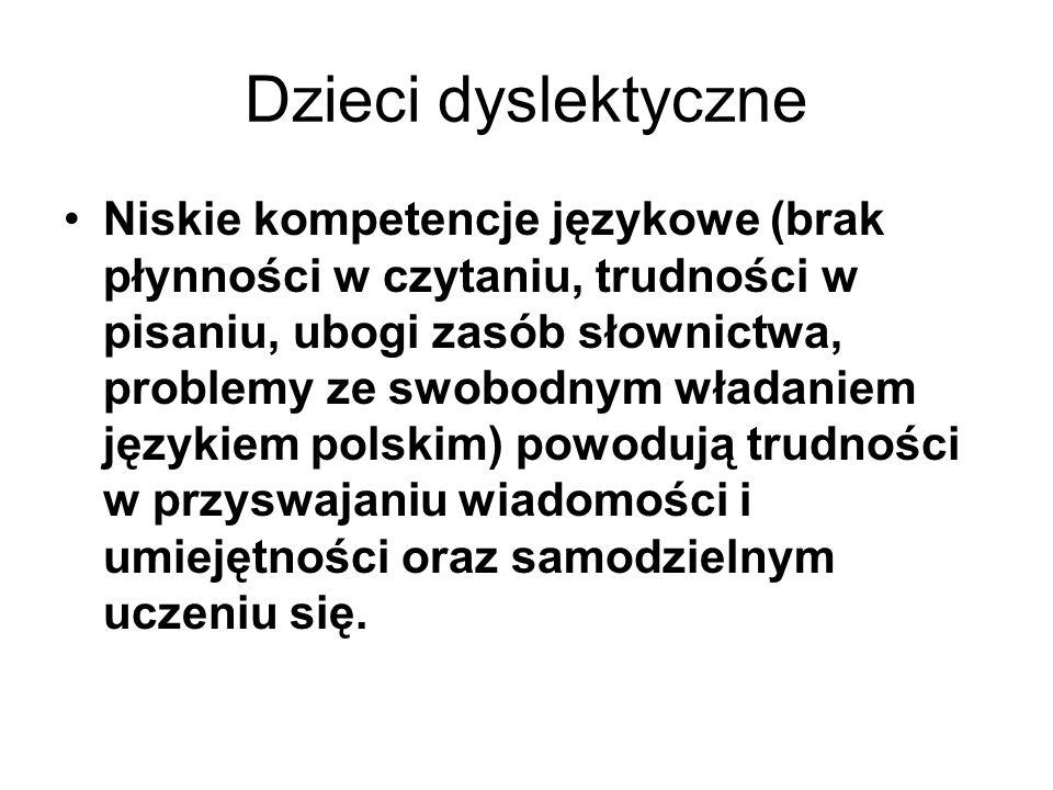 Dzieci dyslektyczne