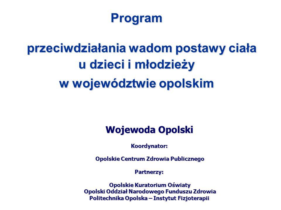 przeciwdziałania wadom postawy ciała w województwie opolskim