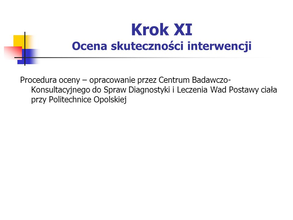 Krok XI Ocena skuteczności interwencji