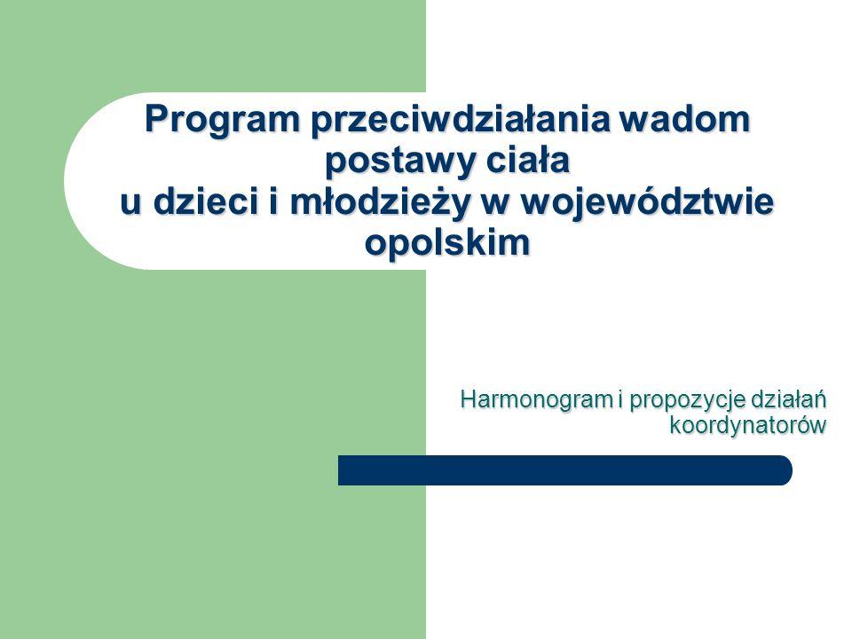 Harmonogram i propozycje działań koordynatorów