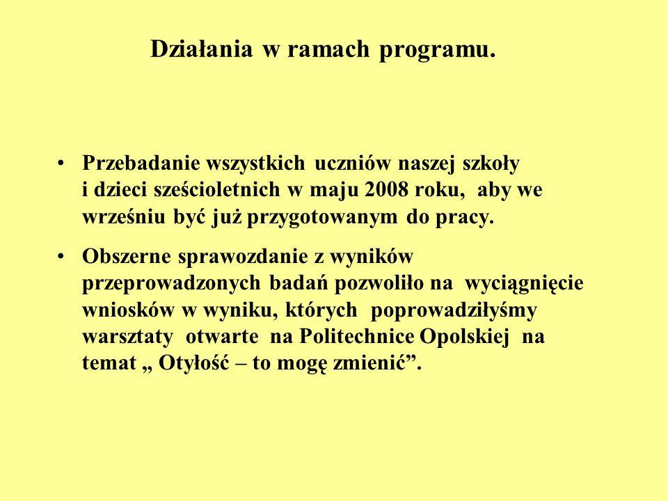 Działania w ramach programu.