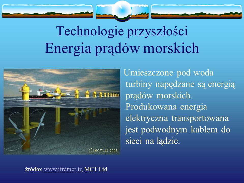 Technologie przyszłości Energia prądów morskich