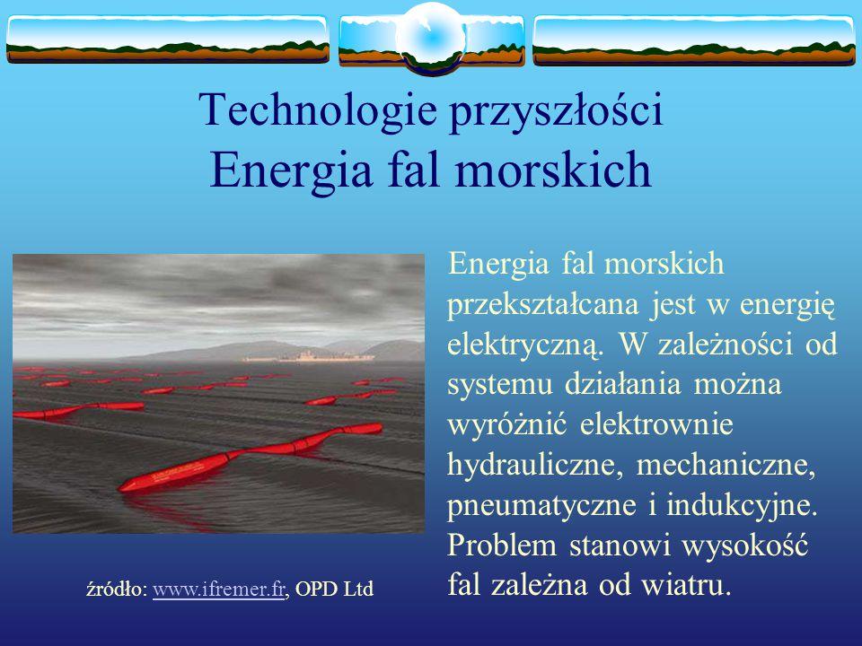 Technologie przyszłości Energia fal morskich