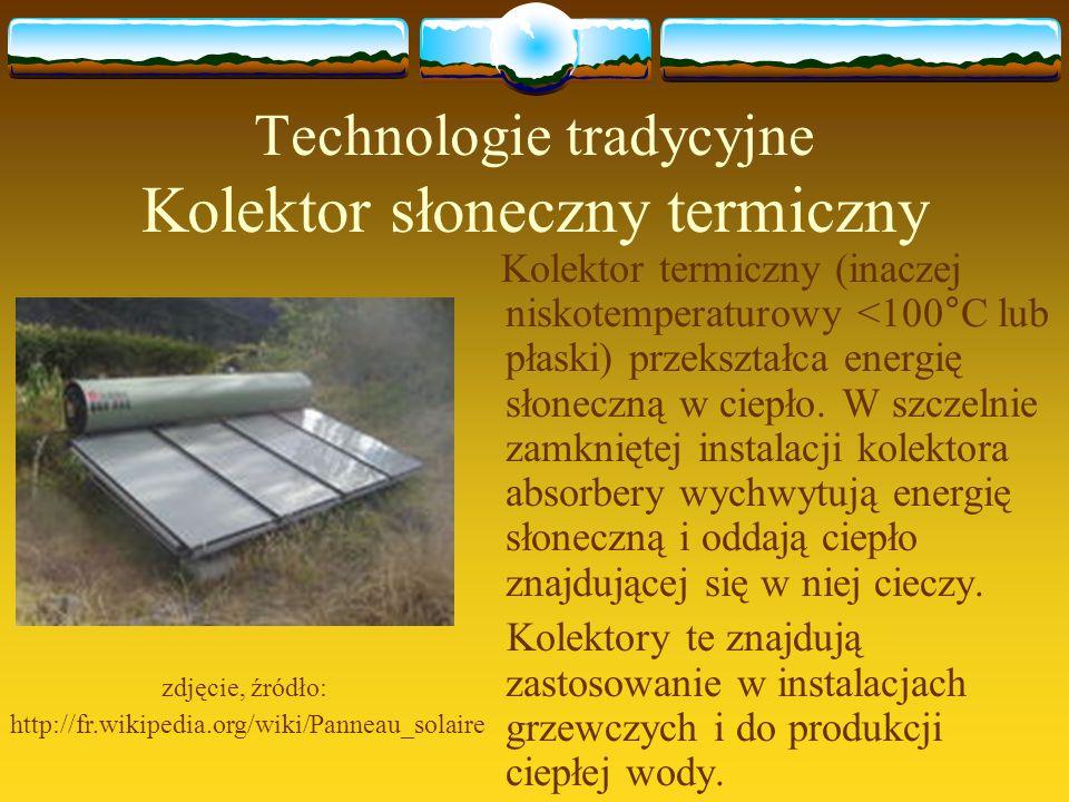 Technologie tradycyjne Kolektor słoneczny termiczny