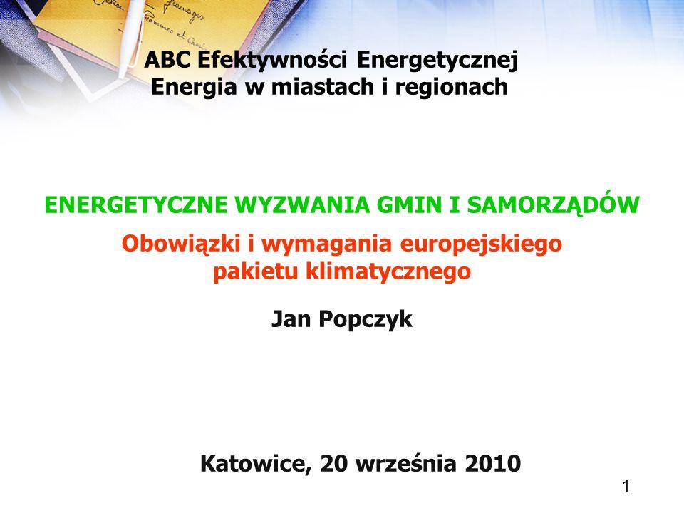 ABC Efektywności Energetycznej Energia w miastach i regionach