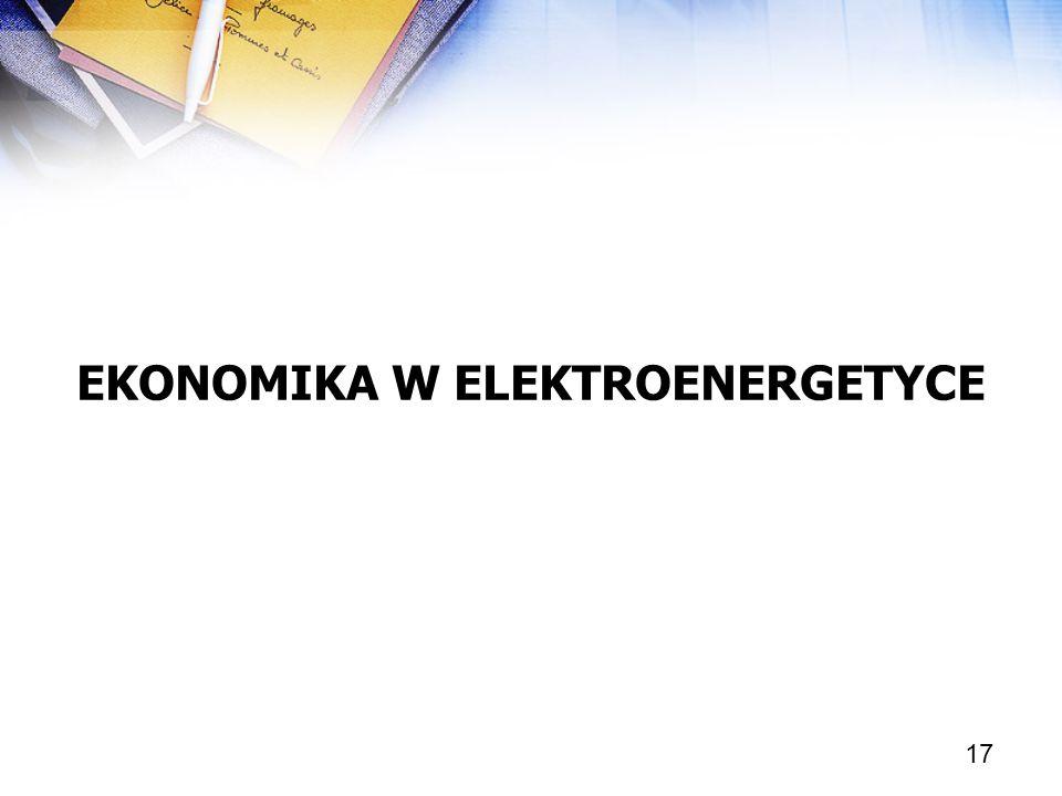 EKONOMIKA W ELEKTROENERGETYCE