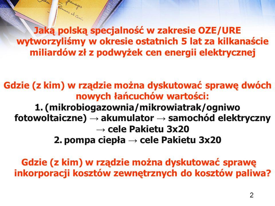pompa ciepła → cele Pakietu 3x20
