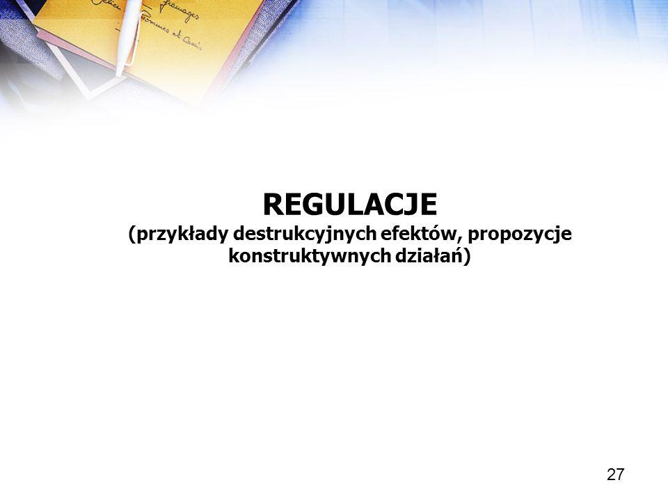 (przykłady destrukcyjnych efektów, propozycje konstruktywnych działań)