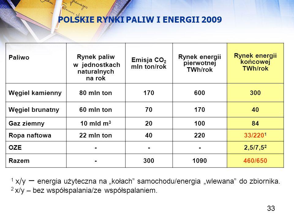POLSKIE RYNKI PALIW I ENERGII 2009