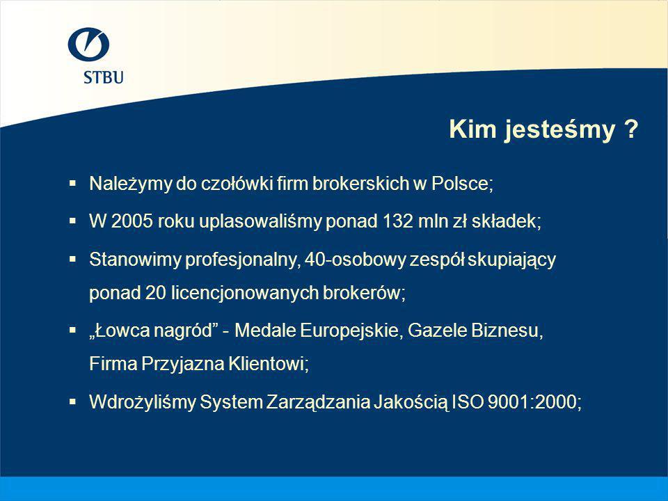 Kim jesteśmy Należymy do czołówki firm brokerskich w Polsce;