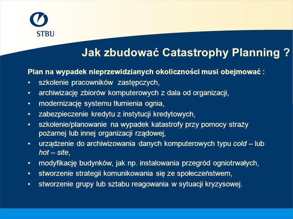 Jak zbudować Catastrophy Planning