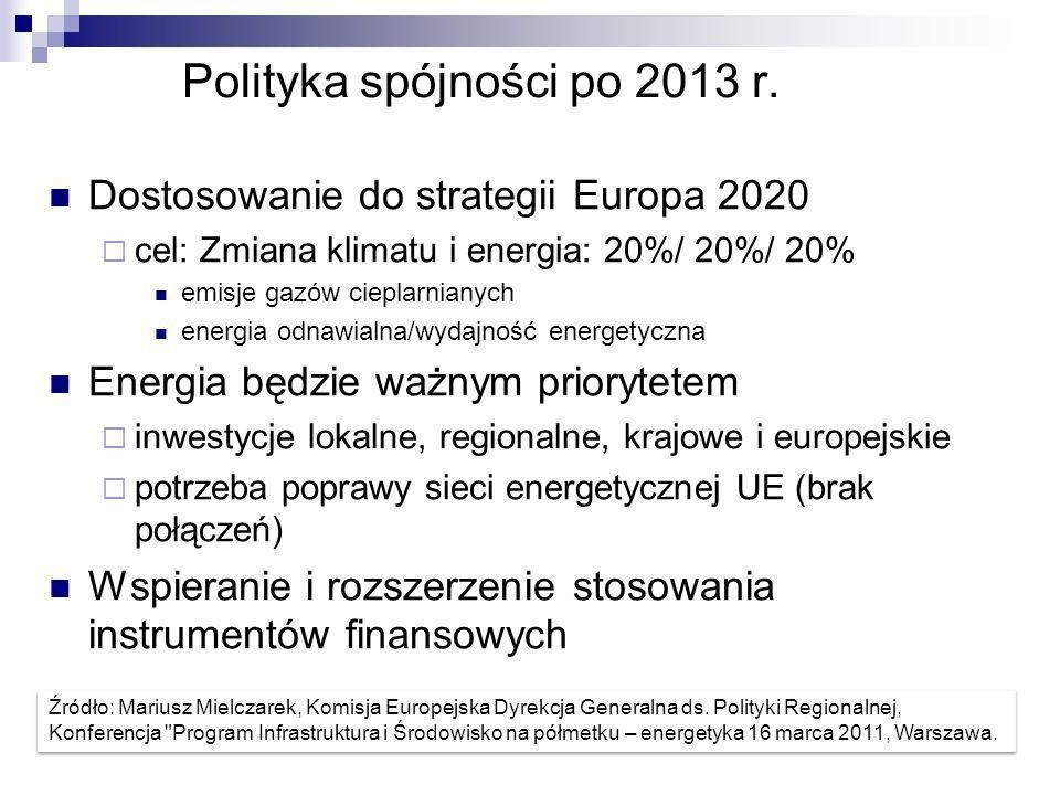 Polityka spójności po 2013 r.