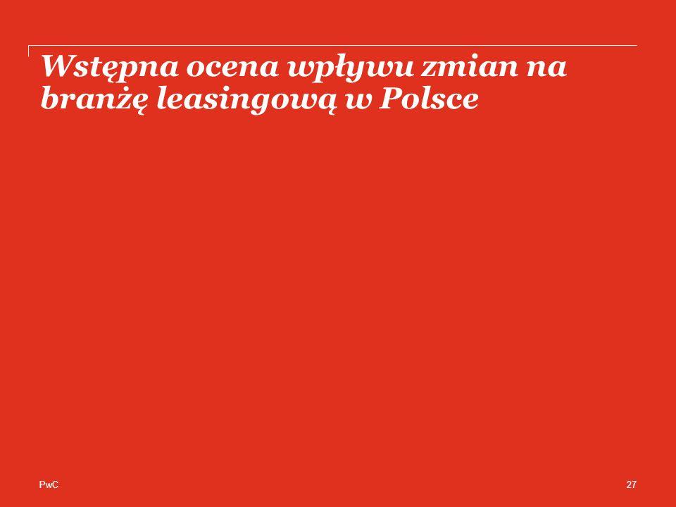 Wstępna ocena wpływu zmian na branżę leasingową w Polsce