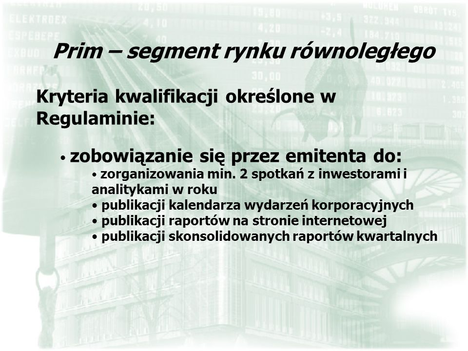 Prim – segment rynku równoległego