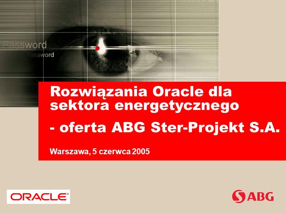 Rozwiązania Oracle dla sektora energetycznego