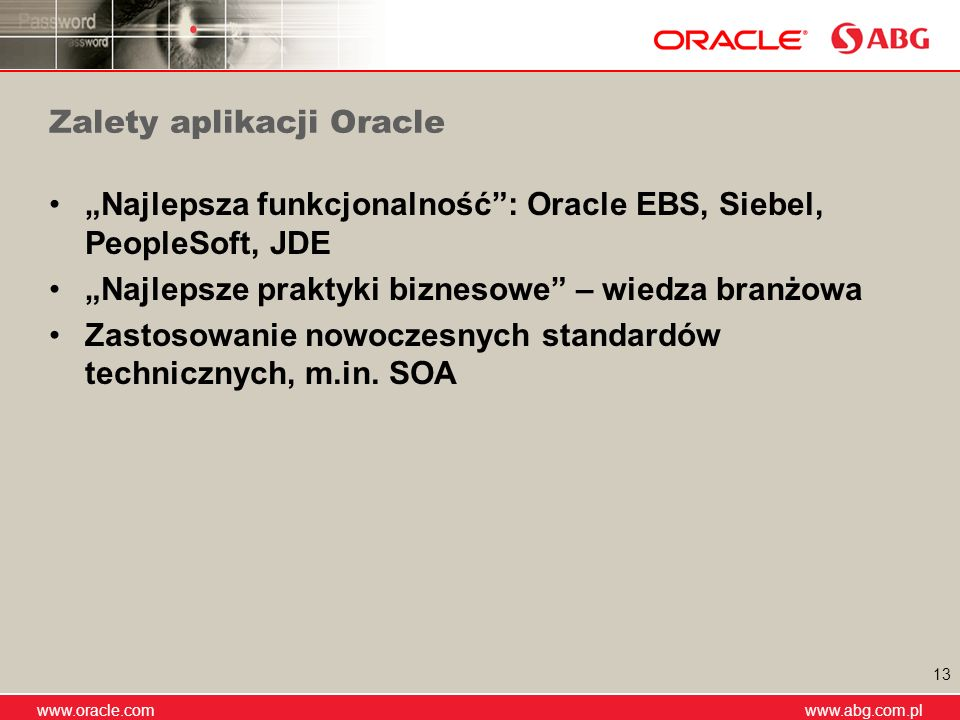 Zalety aplikacji Oracle