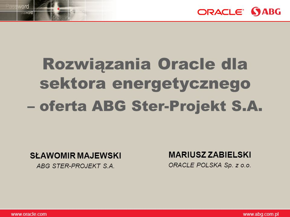 SŁAWOMIR MAJEWSKI ABG STER-PROJEKT S.A.