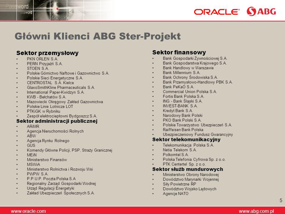 Główni Klienci ABG Ster-Projekt