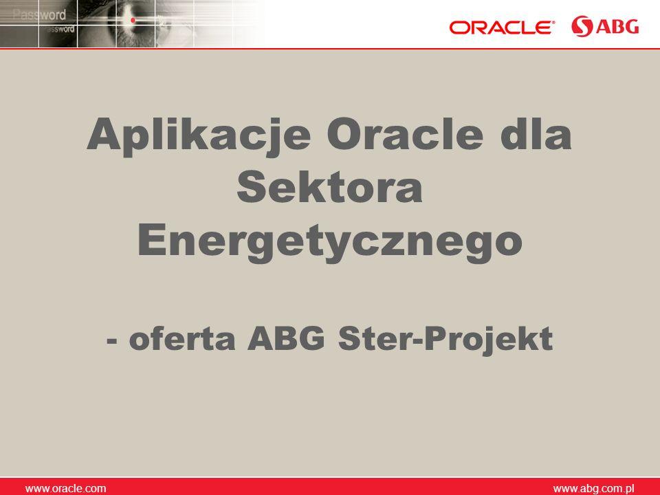 Aplikacje Oracle dla Sektora Energetycznego - oferta ABG Ster-Projekt