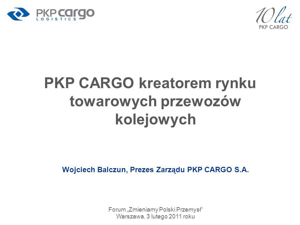 PKP CARGO kreatorem rynku towarowych przewozów kolejowych