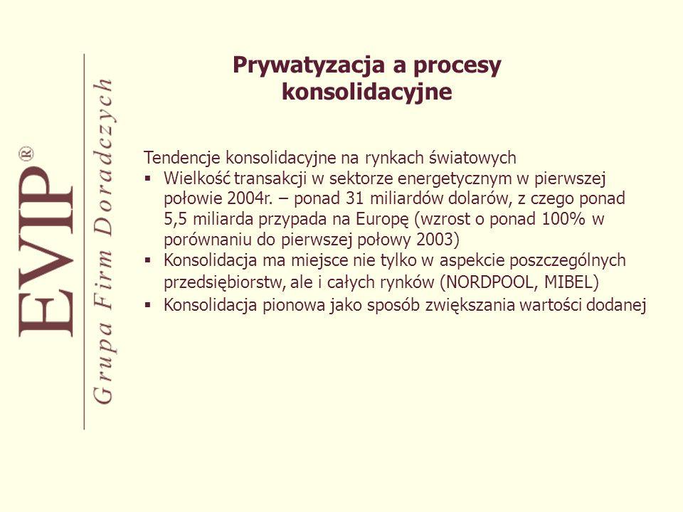 Prywatyzacja a procesy konsolidacyjne