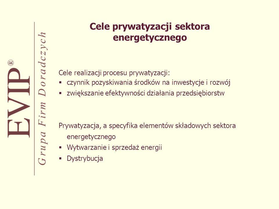 Cele prywatyzacji sektora energetycznego