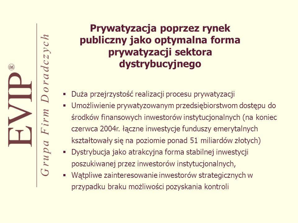 Prywatyzacja poprzez rynek publiczny jako optymalna forma prywatyzacji sektora dystrybucyjnego