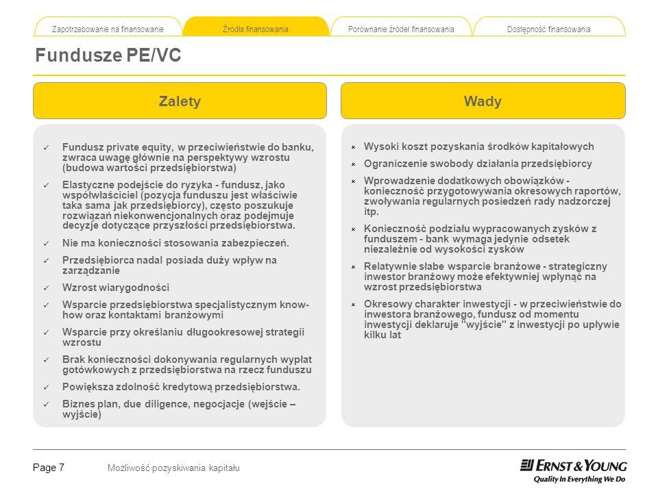 Fundusze PE/VC Zalety Wady