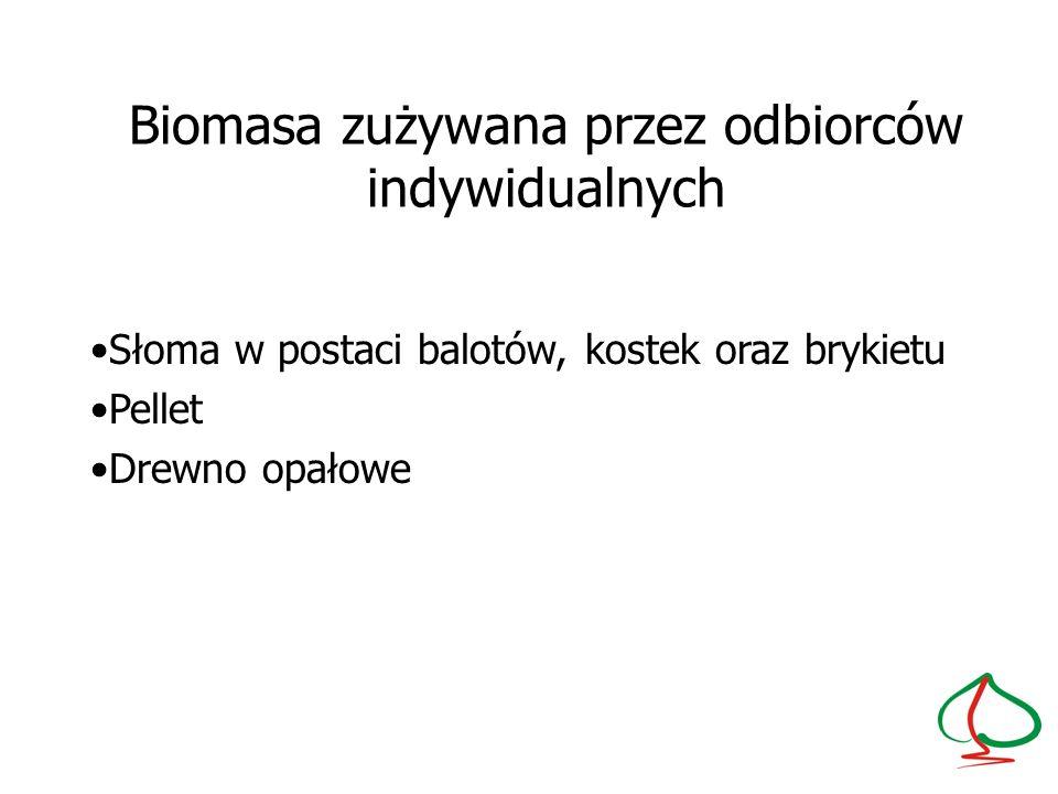 Biomasa zużywana przez odbiorców indywidualnych